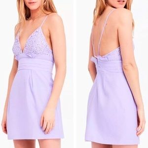 Free People We Go Together Lilac Purple Mini Dress